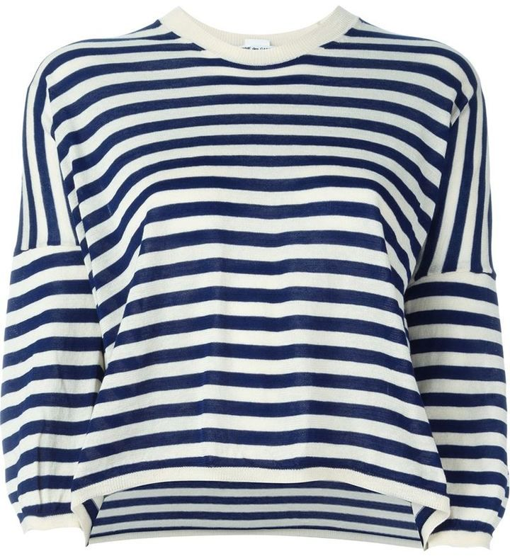 Comme des Garcons striped jumper, Women's, Size: Small, Blue