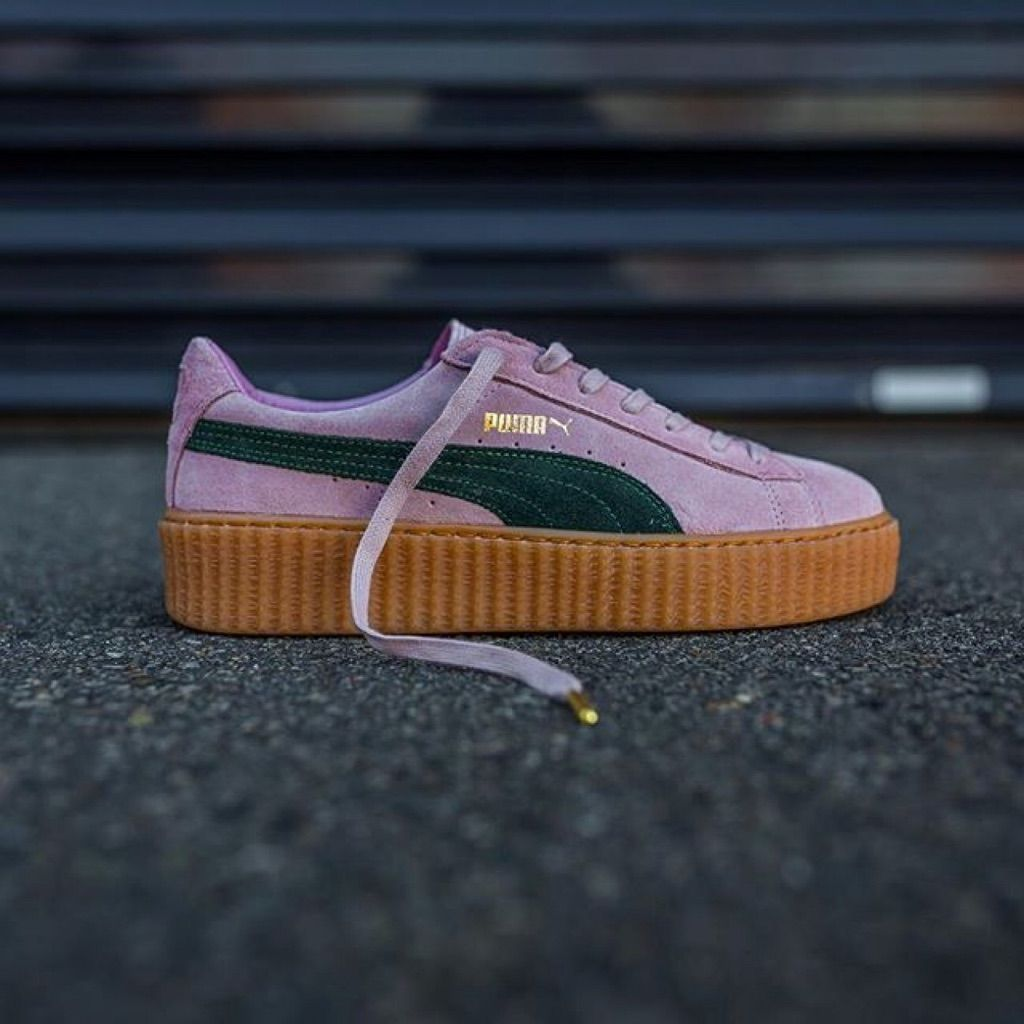 9.5 Pink and Green Fenty Puma Creepers