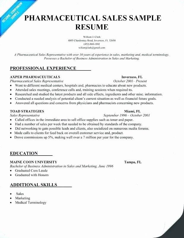 Medical Sales Representative Resume Sample Best Resume Examples