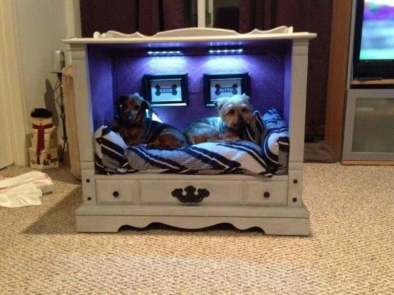 Another dog bed idea made from an upside down end table, could use long coffee table too! Description from pinterest.com. I searched for this on bing.com/images