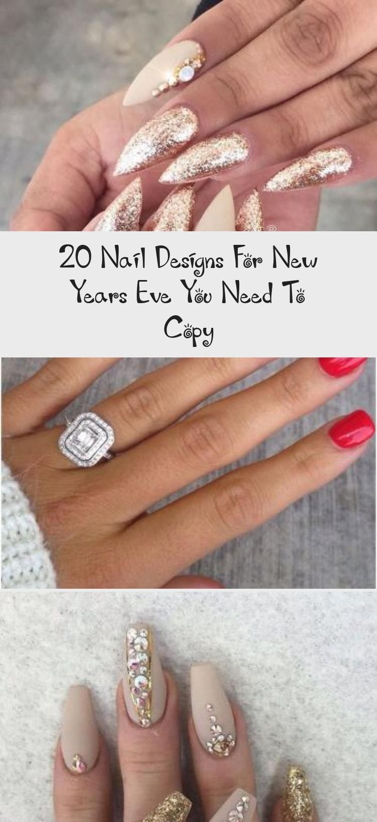 20 Nail Designs For New Years Eve You Need To Copy, Copy