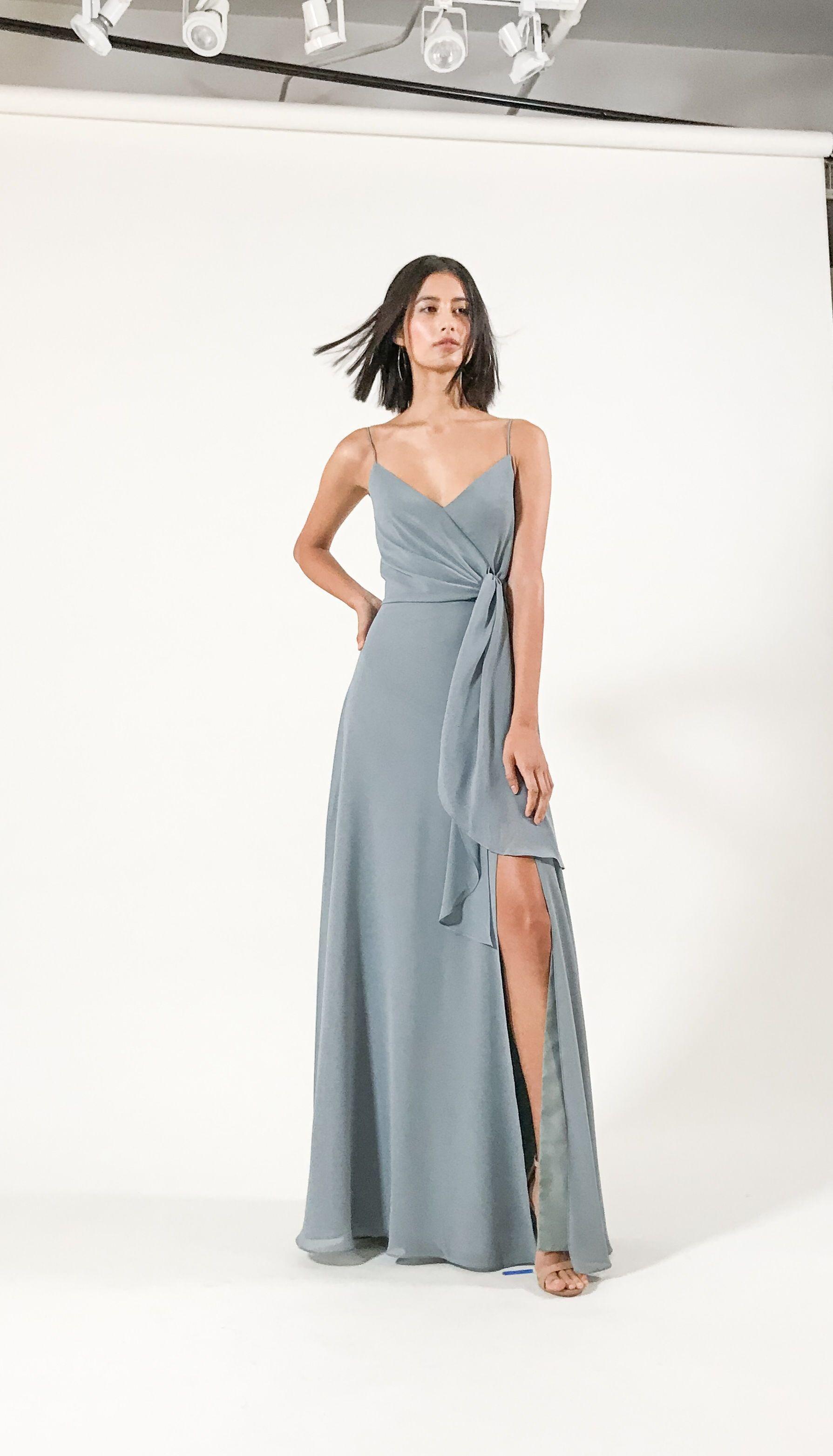 Who Doesn T Love A Good Wrap Dress The Amara Dress By Jenny Yoo 2019 Has A Sophisticated A Line Silhouette Wit Dresses Wedding Dress Flowy Wedding Guest Dress [ 3129 x 1789 Pixel ]