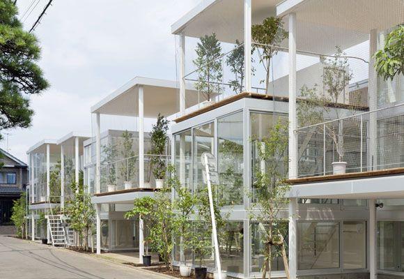 Architects kazuyo sejima ryue nishizawa sanaa location tokyo japan year built all glass walls and open terraces comprise this small group of
