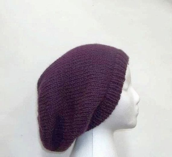 d73f9957cda Purple slouch hat oversized beanie by CaboDesigns on Etsy