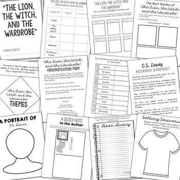 THE LION, THE WITCH, AND THE WARDROBE Novel Study Unit