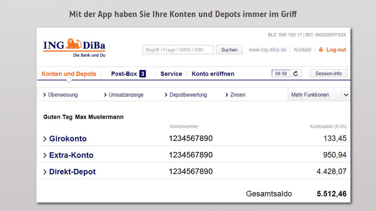 OnlineBanking ING DiBa Webdesign / Finance Pinterest