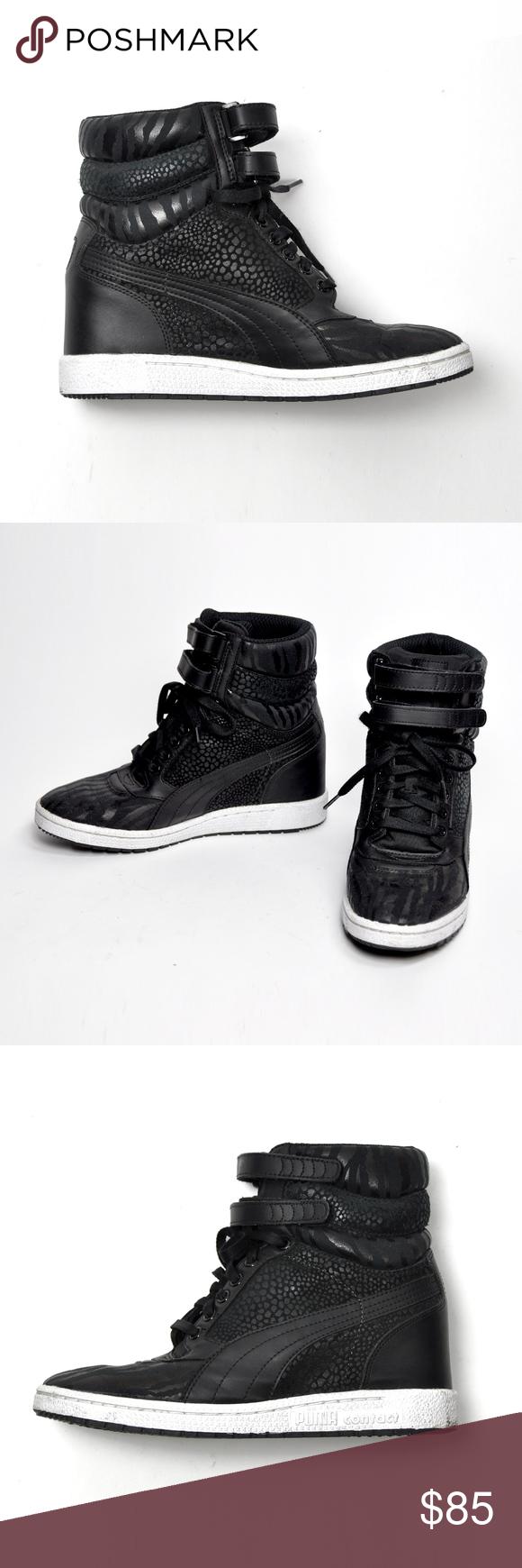 94aa9f5397 Puma Sky Reptile Wedge Sneakers Women's Size 9.5 Puma Sky Reptile Wedge  Lace & Velcro
