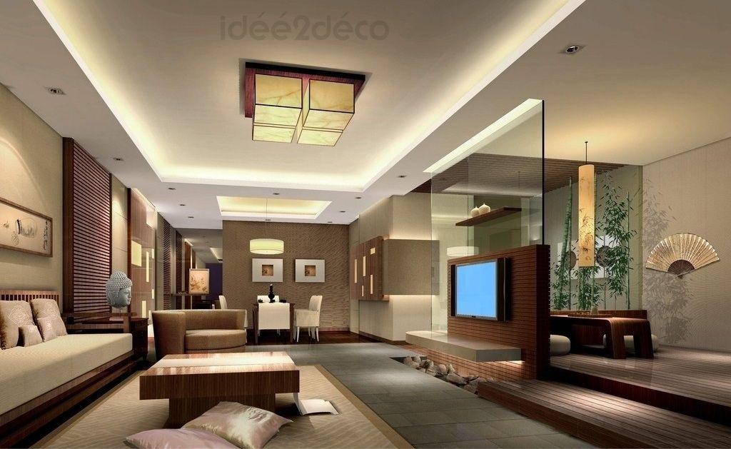 Une déco de salon moderne ambiance zen asiatique | Dream Home