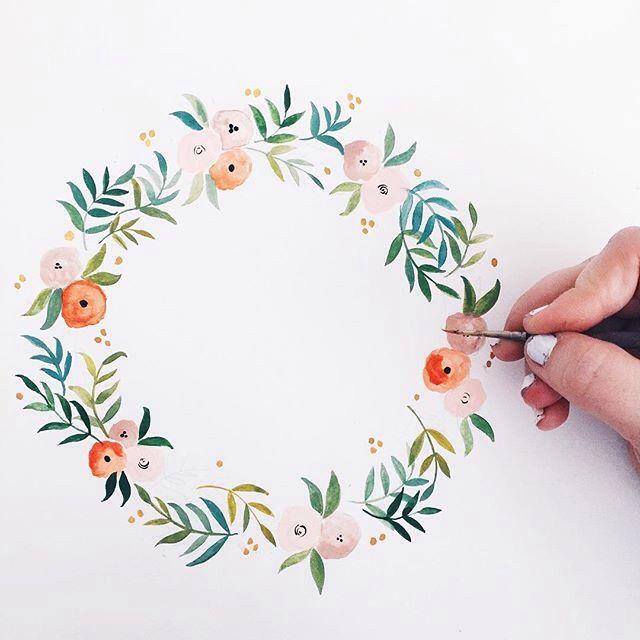 Floral Wreath Sketch