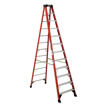 Werner Ladder Nxt1a12ca 12 Ft Fiberglass 300 Lb Type Ia Step Ladder Bedroom Light Fixtures Plastic Step Stool