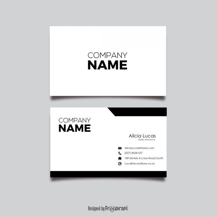 Black And White Simple Visiting Card Design Visiting Card Design Business Card Design Simple Simple Business Cards