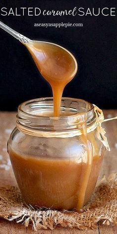 This easy homemade salted caramel sauce is the perfect creamy topping on ice cream, cupcakes, cakes, brownies, pancakes, pies, etc. It also makes a great gift for the holidays or special occasions. No candy thermometer needed.  via /easyasapplepie/
