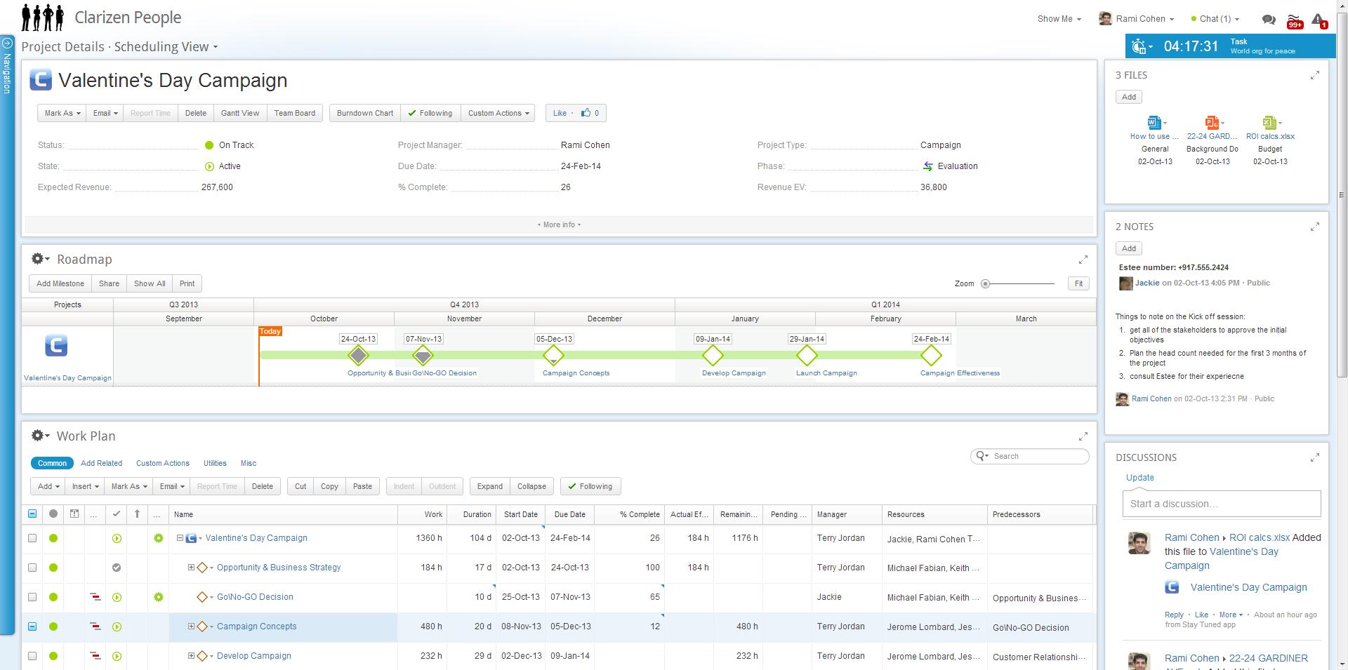 Clarizen Screenshot 2 Project management tools, Online