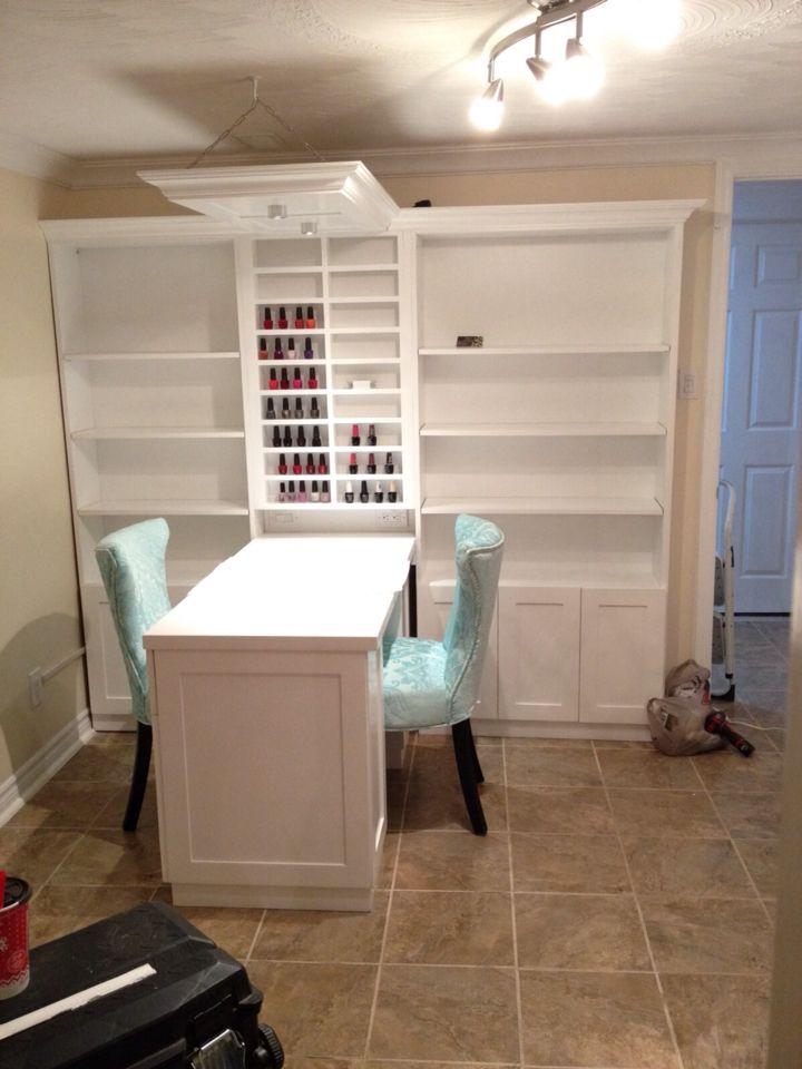 Manicure Table Home Nail Salon Ideas Pinterest