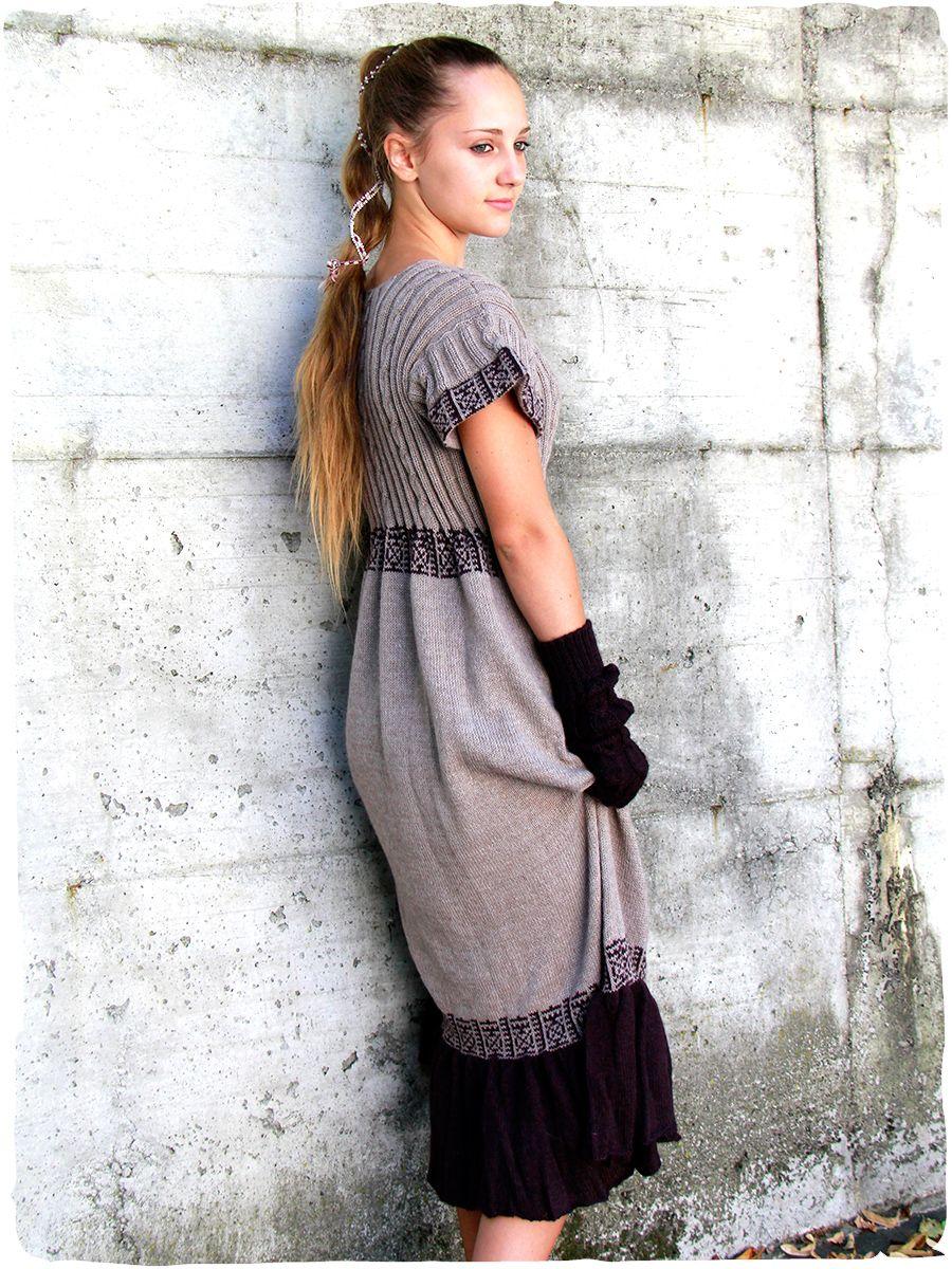 acccbdab6efd Abito etnico Solange  vestito  abito di  maglia lavorato mano in  Peru con