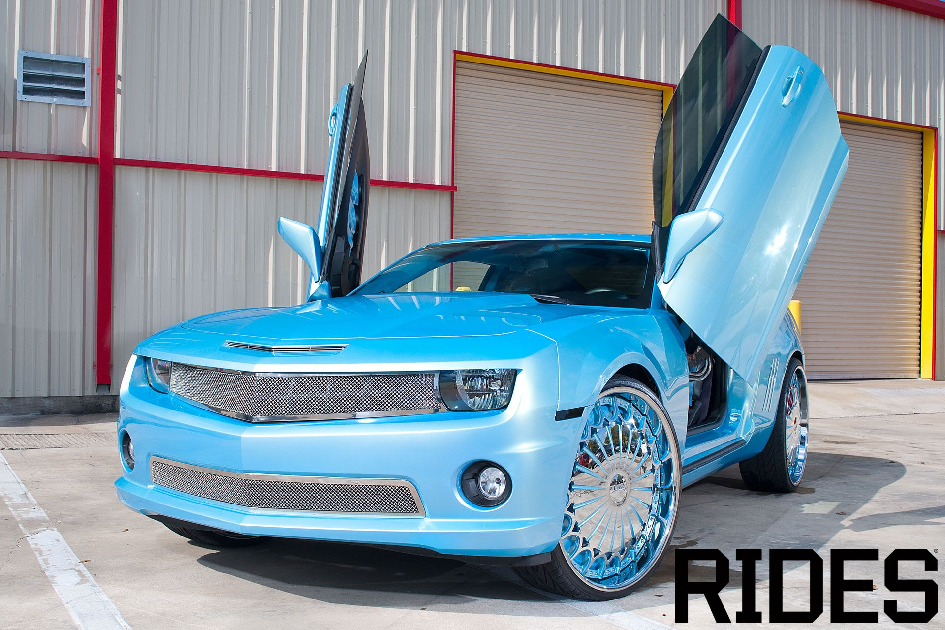 Amazing Blue 2012 Camaro With Butterfly Doors Cars