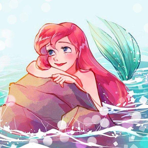 Ariel art disney drawing the little mermaid cute manga - Dessin anime princesse ariel ...