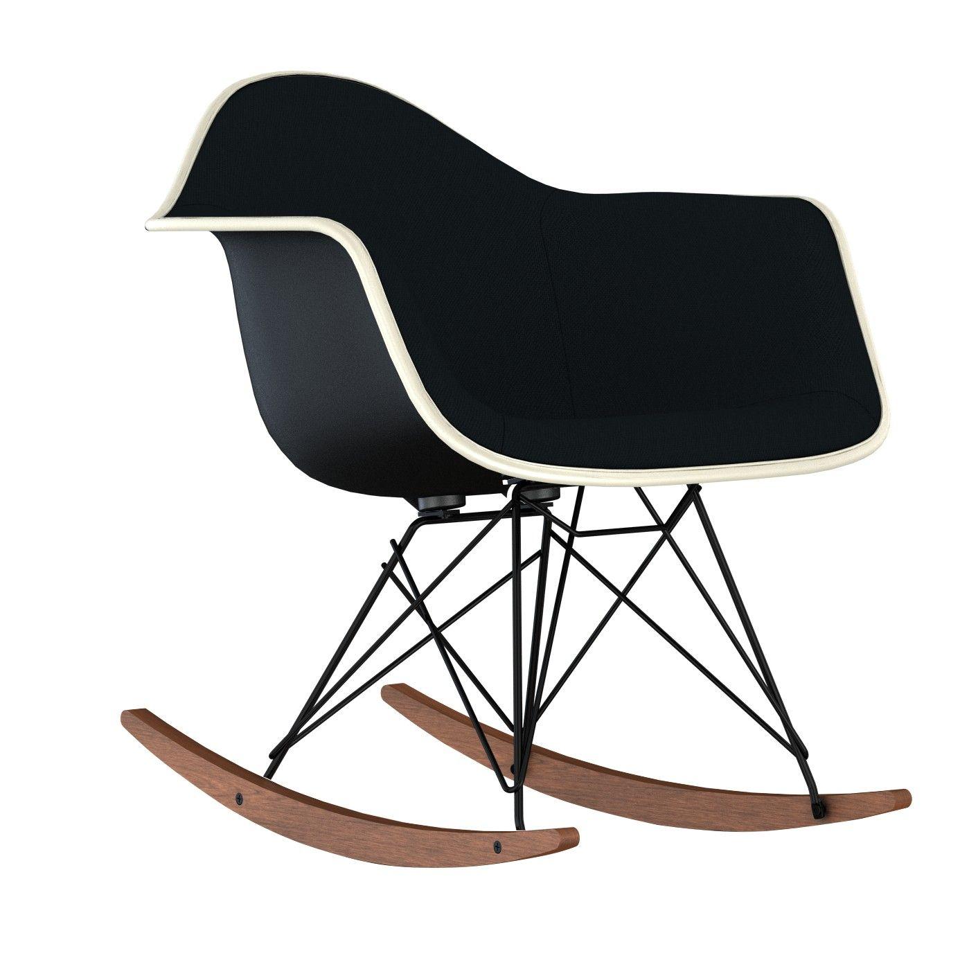 Eames Upholstered Molded Plastic Rocker