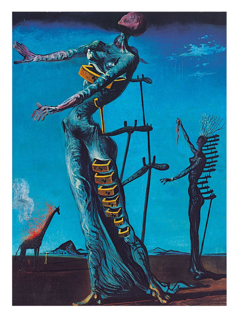 La Girafe En Feu : girafe, Giraffe, Salvador, Kunst,, Schilderijen,, Schilderijen