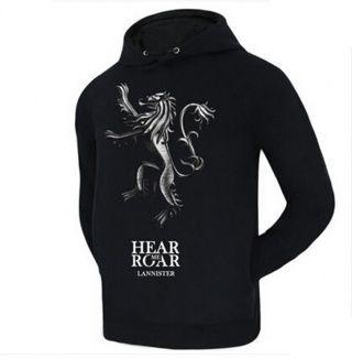 Hear Me Roar House Lannister Black Hoodie Game Of Thrones Black Hoodie Hoodies Game Of Thrones Hoodie