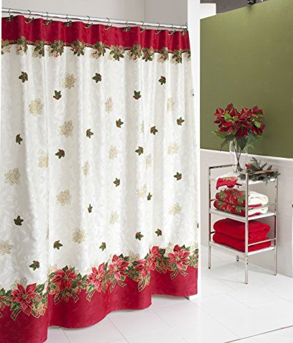 Lenox Holiday Poinsettia Tartan Shower Curtain Find Out More