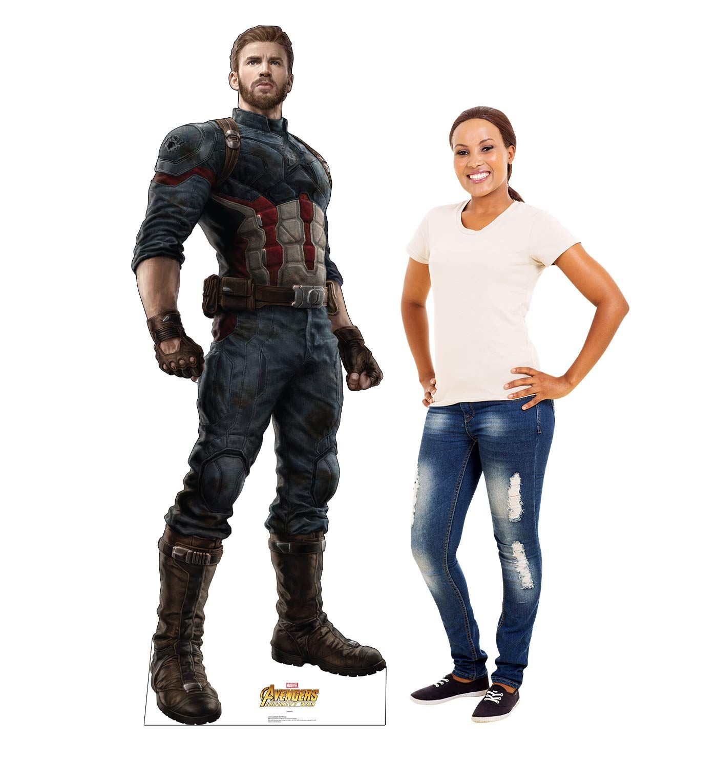 Advanced Graphics Captain Marvel Life Size Cardboard Cutout Standup 2019 Film Captain Marvel