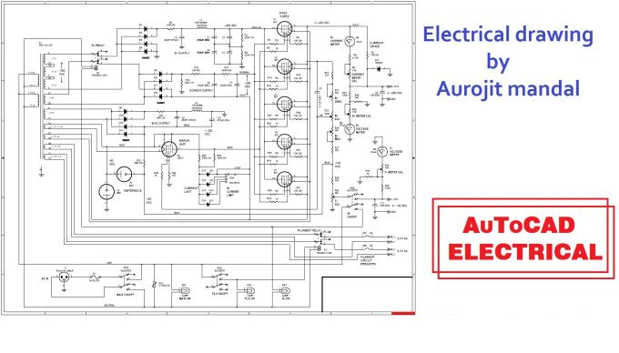Remarkable Do Electrical Drawing In Autocad 2D By Aurojit Mandal 3D 2D Wiring Digital Resources Lavecompassionincorg