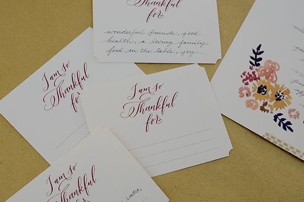 Printable Thanksgiving Table Décor by Antiquaria for Oh So Beautiful Paper