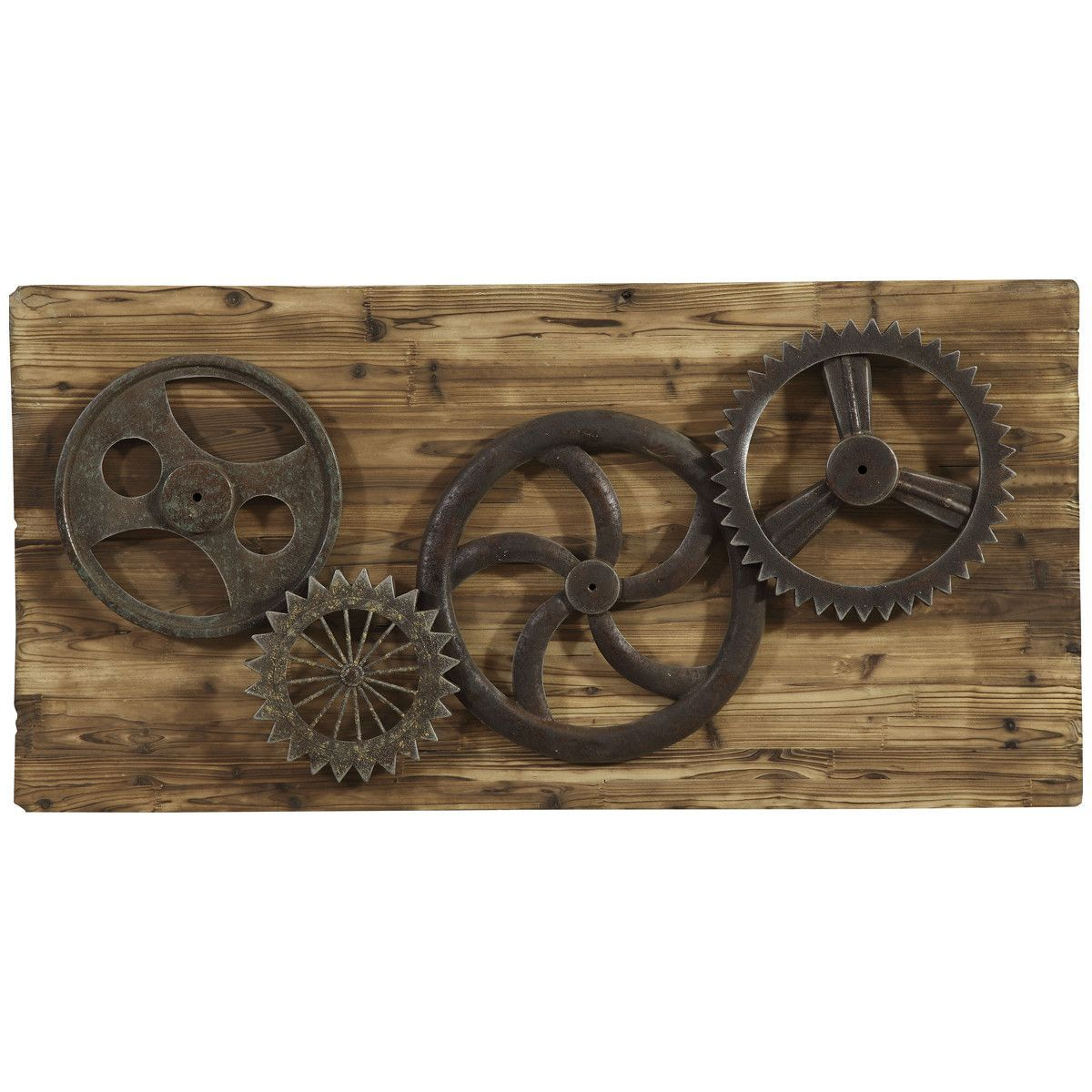 Bassett Mirror Industrial Gears Wall Art