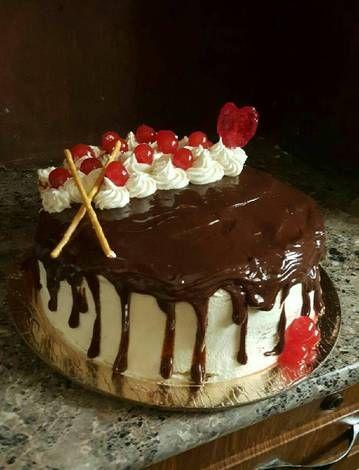 نيكد كيك سهل وجميل بالصور من Najwa Nihgt Recipe Desserts Food Cake