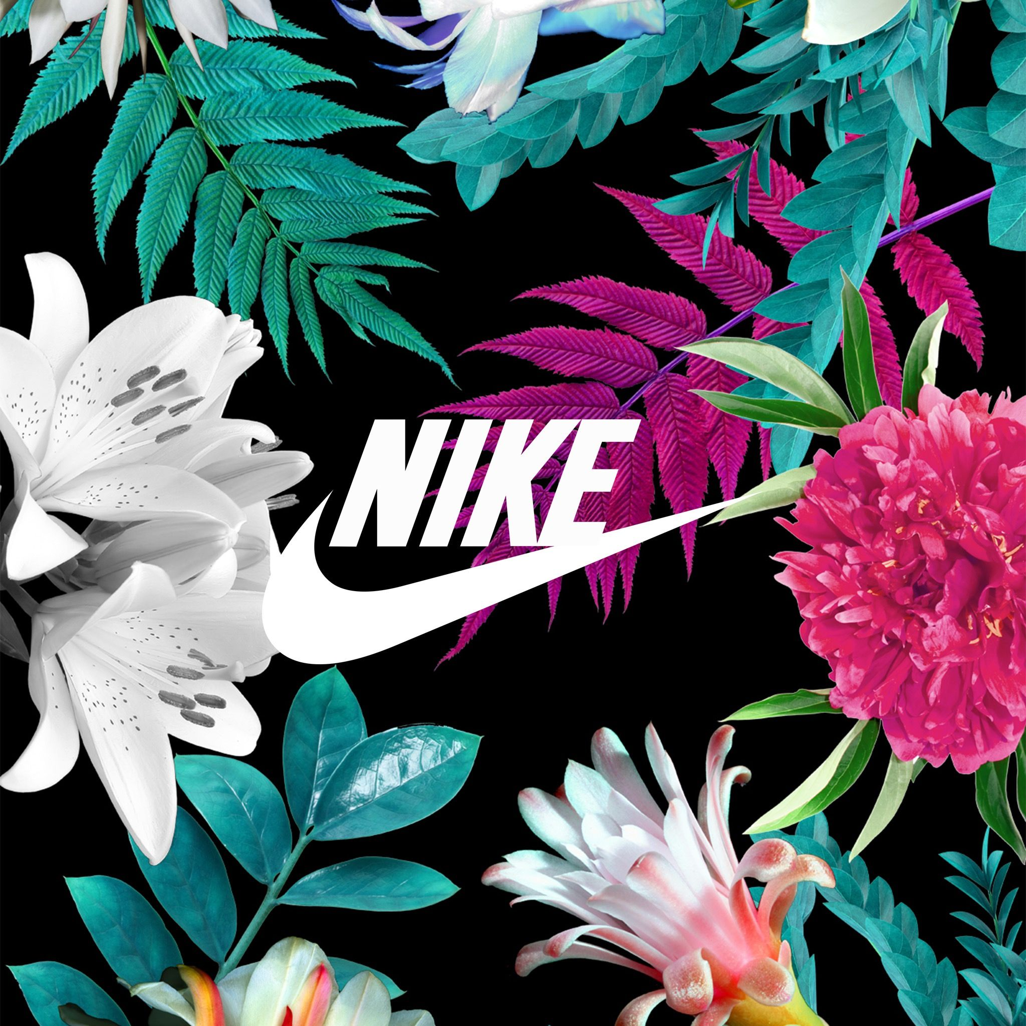 Nike with them flowers Lit pics Pinterest
