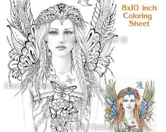 Fairy Dragon Queen Fairy Tangles Coloring Sheet By