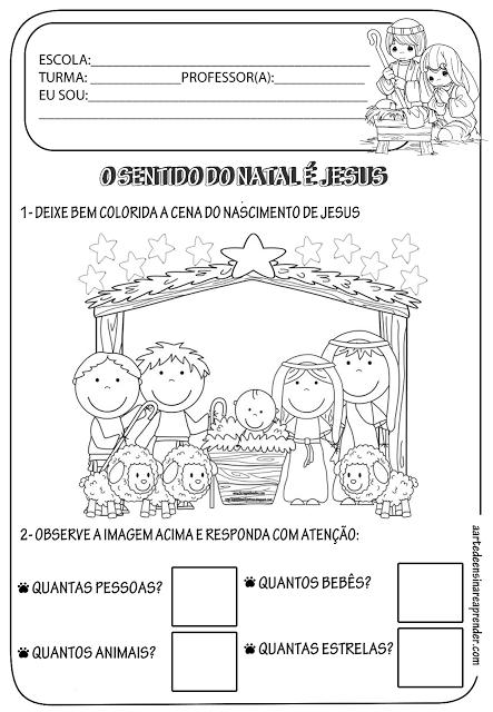Atividade Pronta Tematica Natal Atividades Natal Educacao