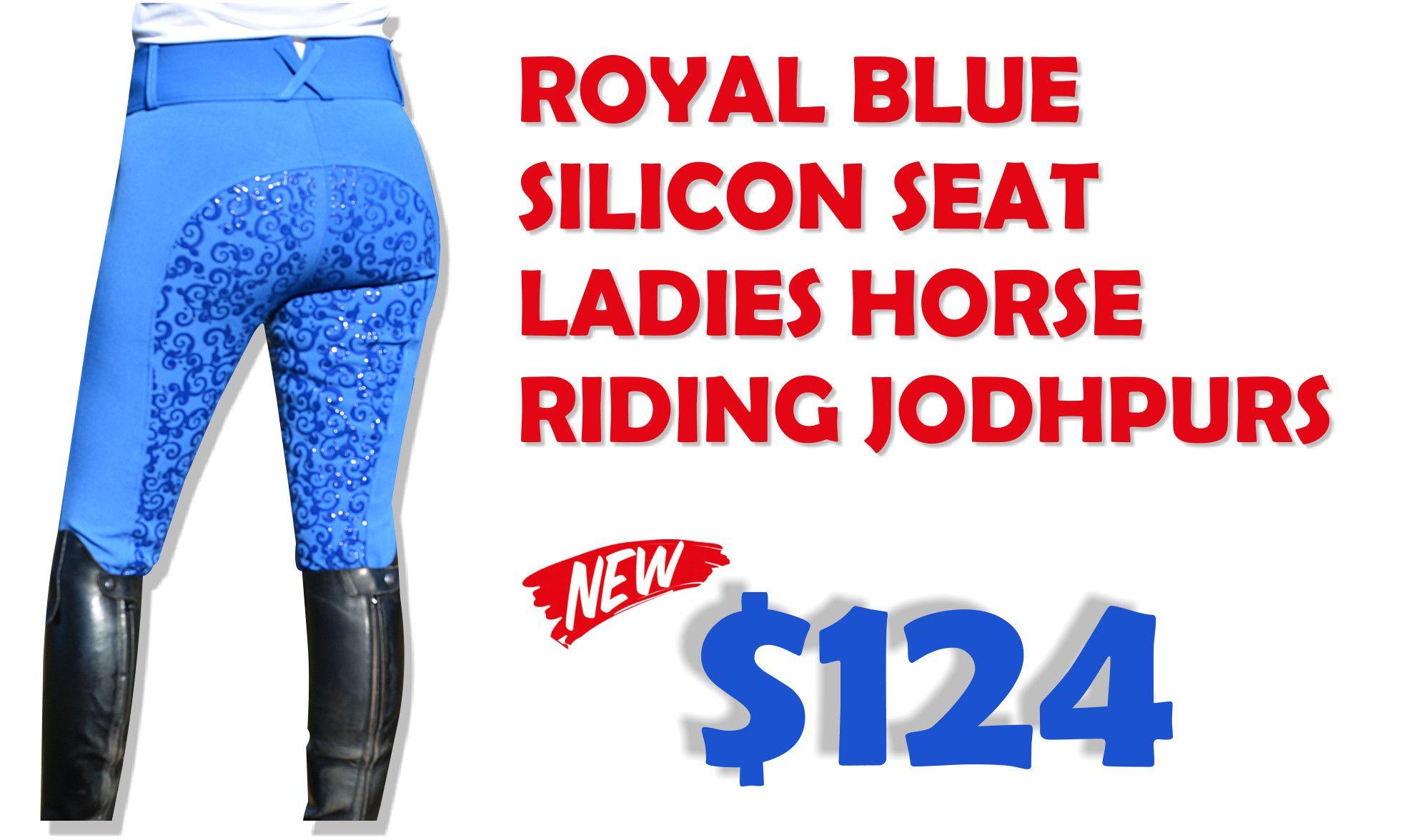 Unicorn Equestrian White Silicon Full Seat Ladies Horse Riding Jodhpurs