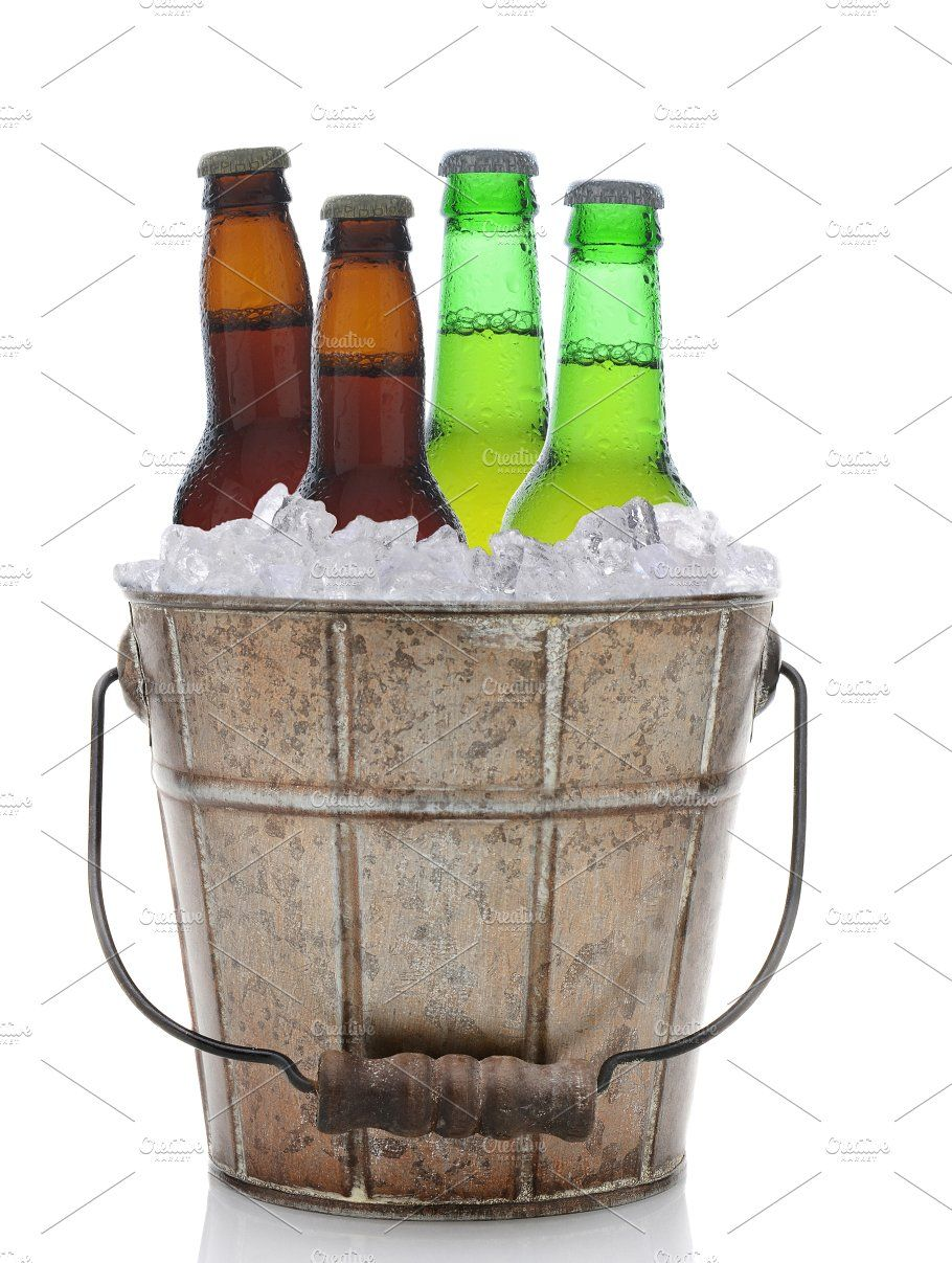 Old Fashioned Beer Bucket With Four Beer Bucket Old Fashioned Beer
