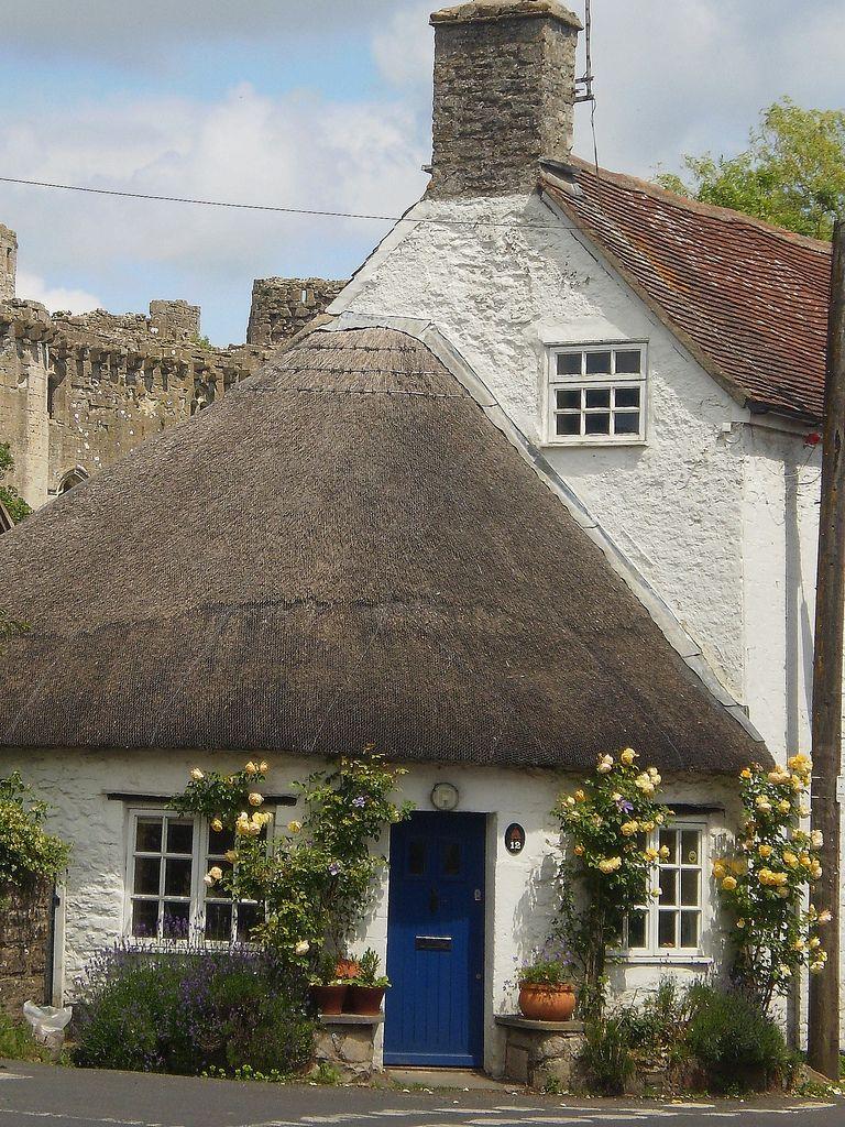 village of Nunney, Somerset, England