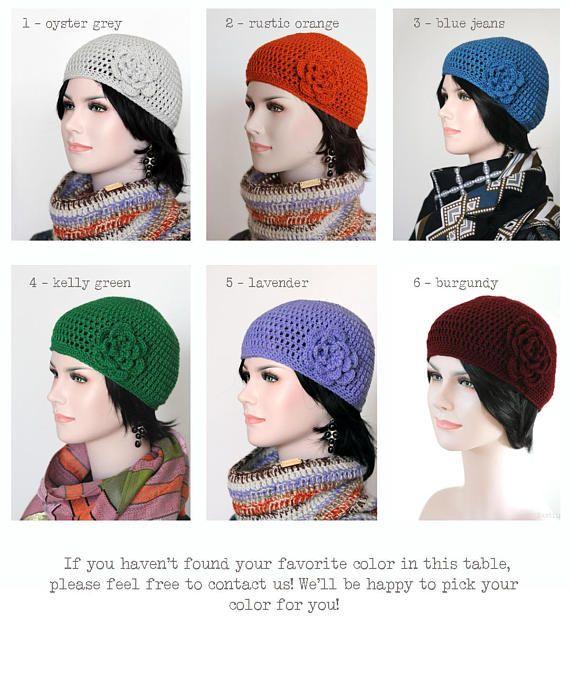 200527af38d68 Blue crochet hat with flower Crochet cloche hat Blue beanie hat Gatsby hat  women Hand knit hat Retro