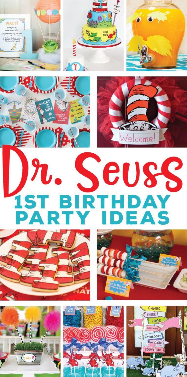 Dr Seuss 1st Birthday Party Ideas Dr Seuss Birthday Party Boys 1st Birthday Party Ideas 1st Birthday Party Themes