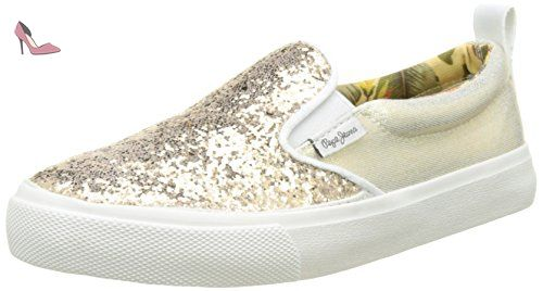 Pepe Jeans Club Stars, Baskets Femme, Bleu (576 Washed Navy), 39 EU