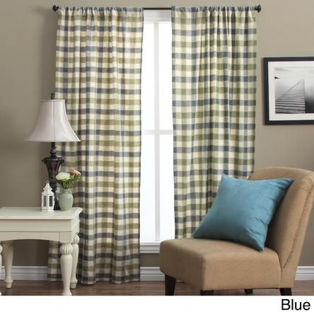 ricardo plymouth plaid 63inch woven tailored curtain panels set of 2
