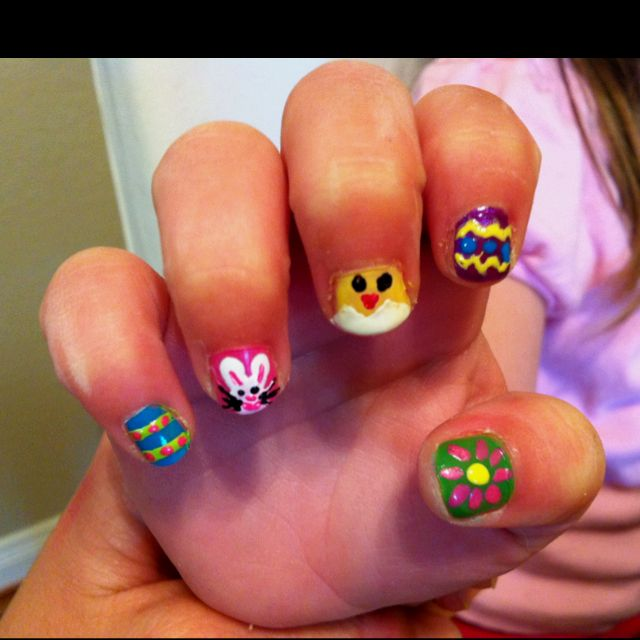 Pin By Angi Lange On Have To Do This Easter Nails Nail Manicure Easter Nail Art