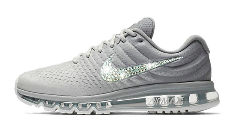 2018 Really Cheap 2018 glitter kicks Nike Air Max 2018 Swarovski Crystal  Swoosh White 8d0cc3bbf271