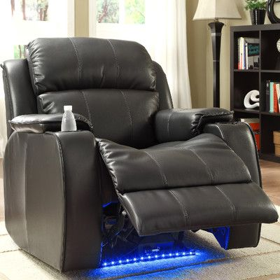 woodbridge home designs jimmy power with massage led and cup holder recliner reviews - Woodbridge Home Design