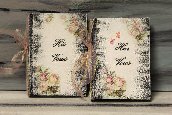 Wedding Vow Books Personalized Retro Vow Books by InspirellaDesign