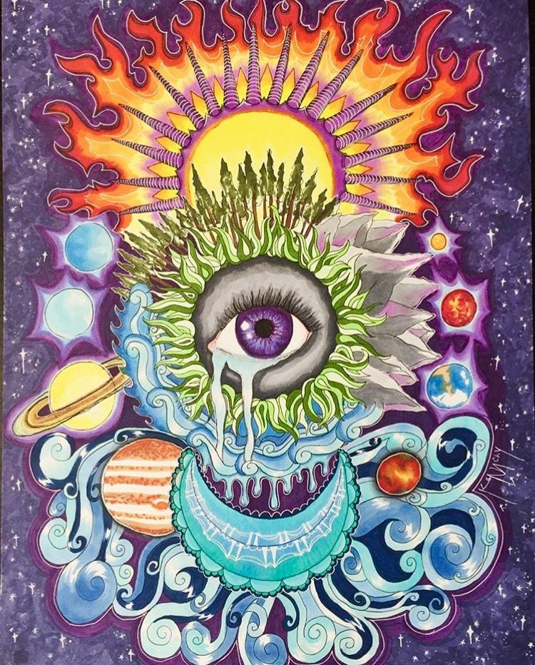 Pin by Natalie🤘🏻 👽 on Life's a trip Psychedelic art