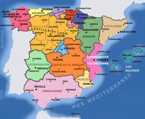 Cartes Espagne Regions Nice Vacation Trips Logrono Historical Maps