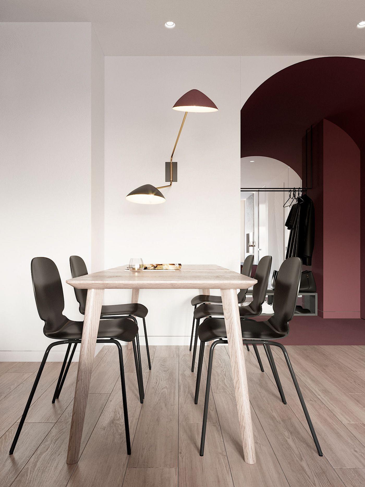 decor and design ferrari decor and design Marsala on Behance ダイニングルームのデザイン, マルサーラ, 壁の色, フェラーリ,