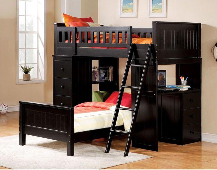 Delta Black Twin Student Loft Bed