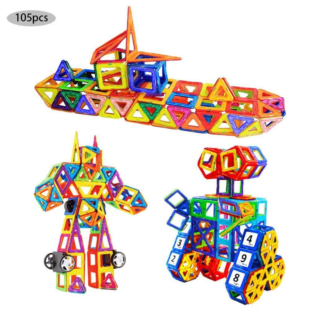 Magnetische Bausteine 105 Teile Magnetspielzeug Magnete Kinder Magnetbausteine Magnet Spielzeug Magnetspiele In 2020 Magnetspielzeug Kinderspielzeug Kinder Spielzeug