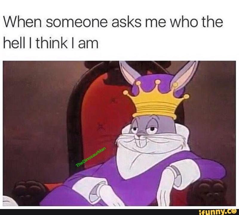 Blijkbaar ben ik Bugs Bunny